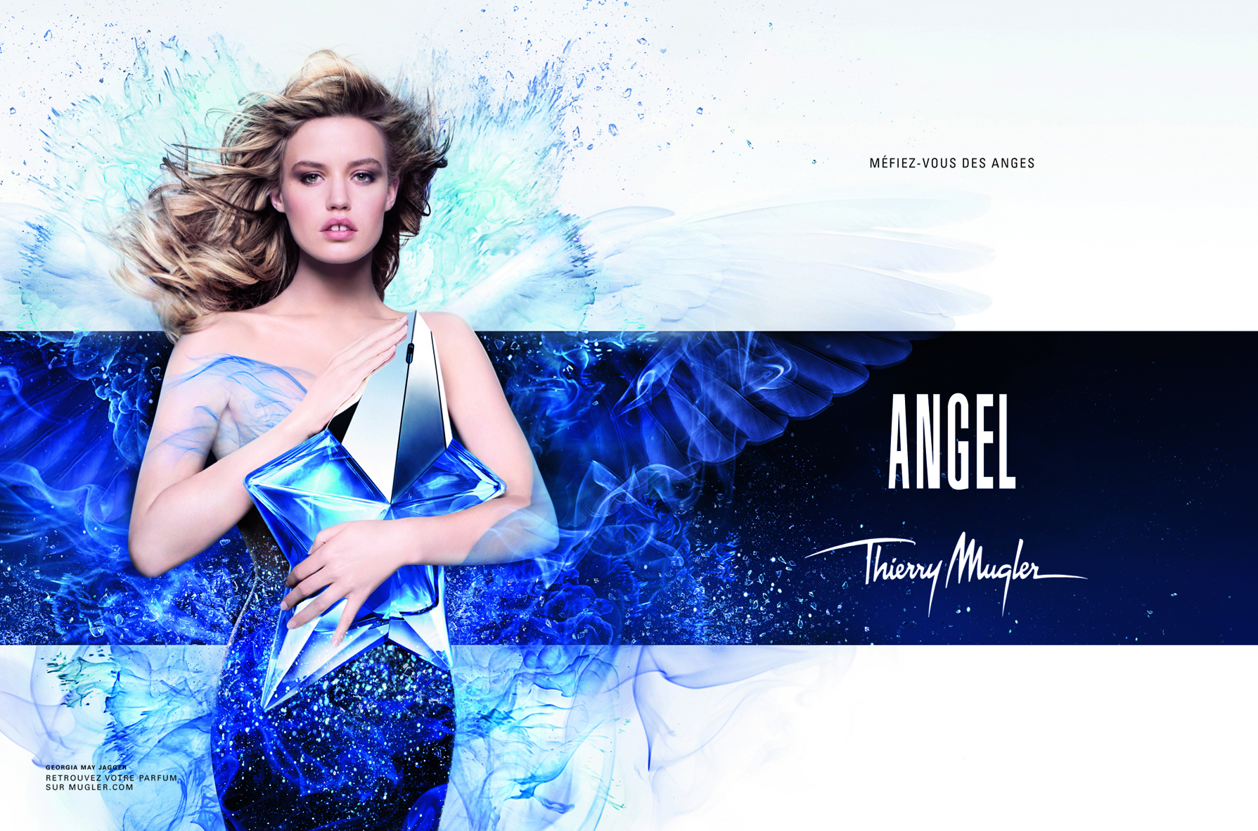 Visual de Angel, de Thierry Mugler, con Georgia May Jagger
