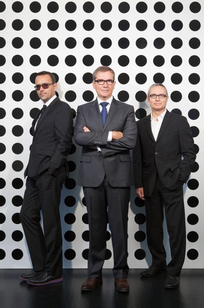 Risto Mejide, Toni Cabal y Marc Ros, socios de Drops&You.