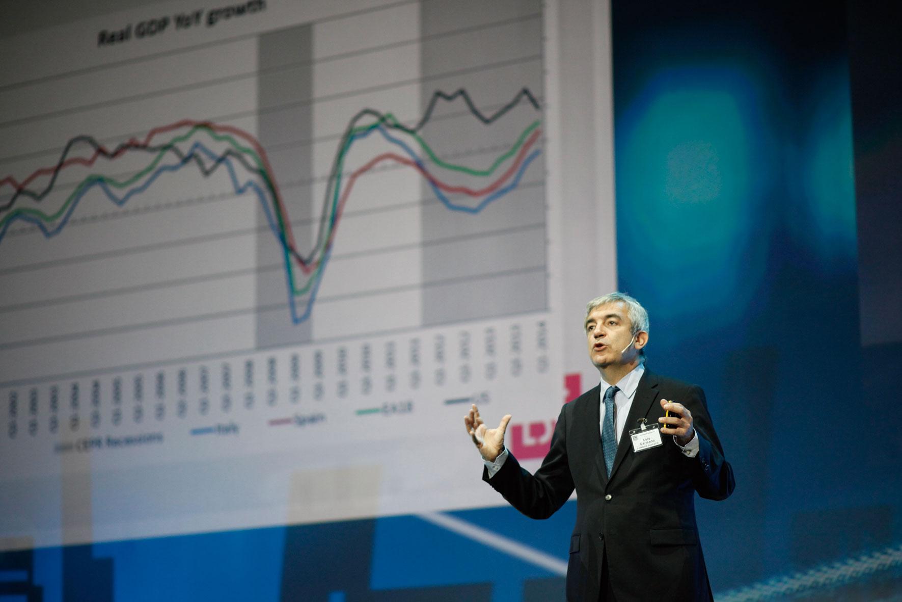 El economista Luis Garicano en el Congreso ECOC 2014.