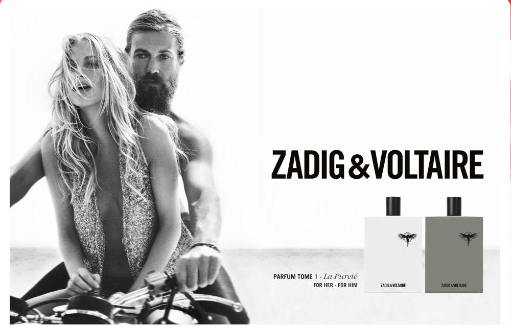 Publicidad de fragancias Zadig & Voltaire.