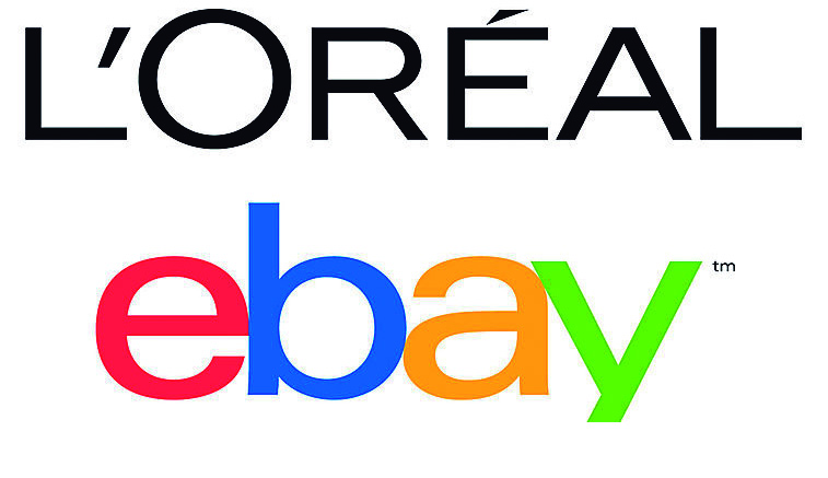 Logos de L'Oréal y eBay.