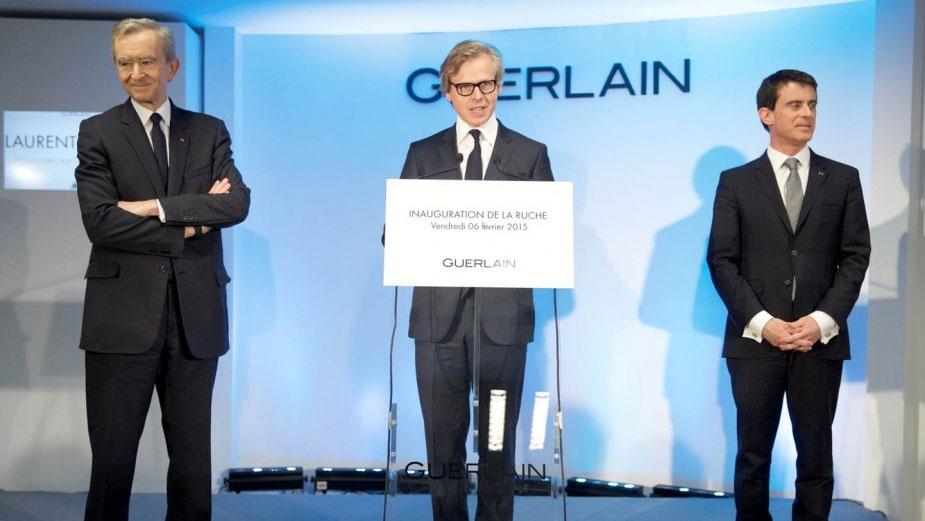 Inauguración de La Ruche: Bernard Arnault, Laurent Boillot y Manuel Valls.