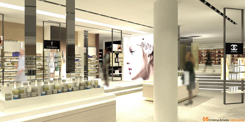 Área de cosmética del nuevo Centro Júlia, en Andorra.