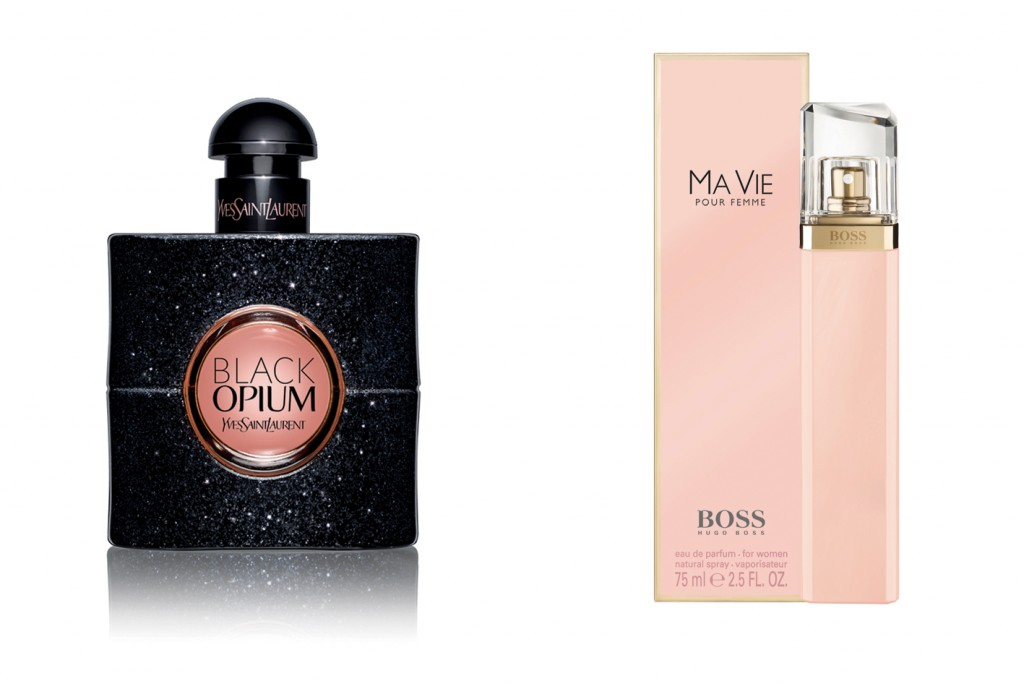 Black Opium, de Yves Saint Laurent, y Boss Ma Vie, de Hugo Boss.