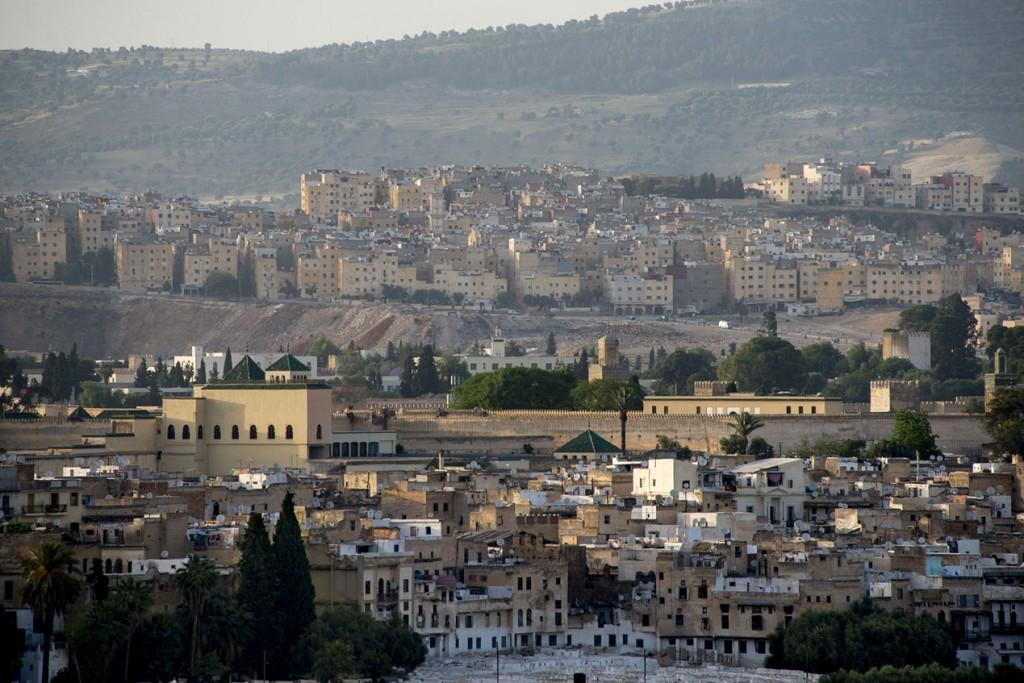 Vista panorámica de Fez (Marruecos).