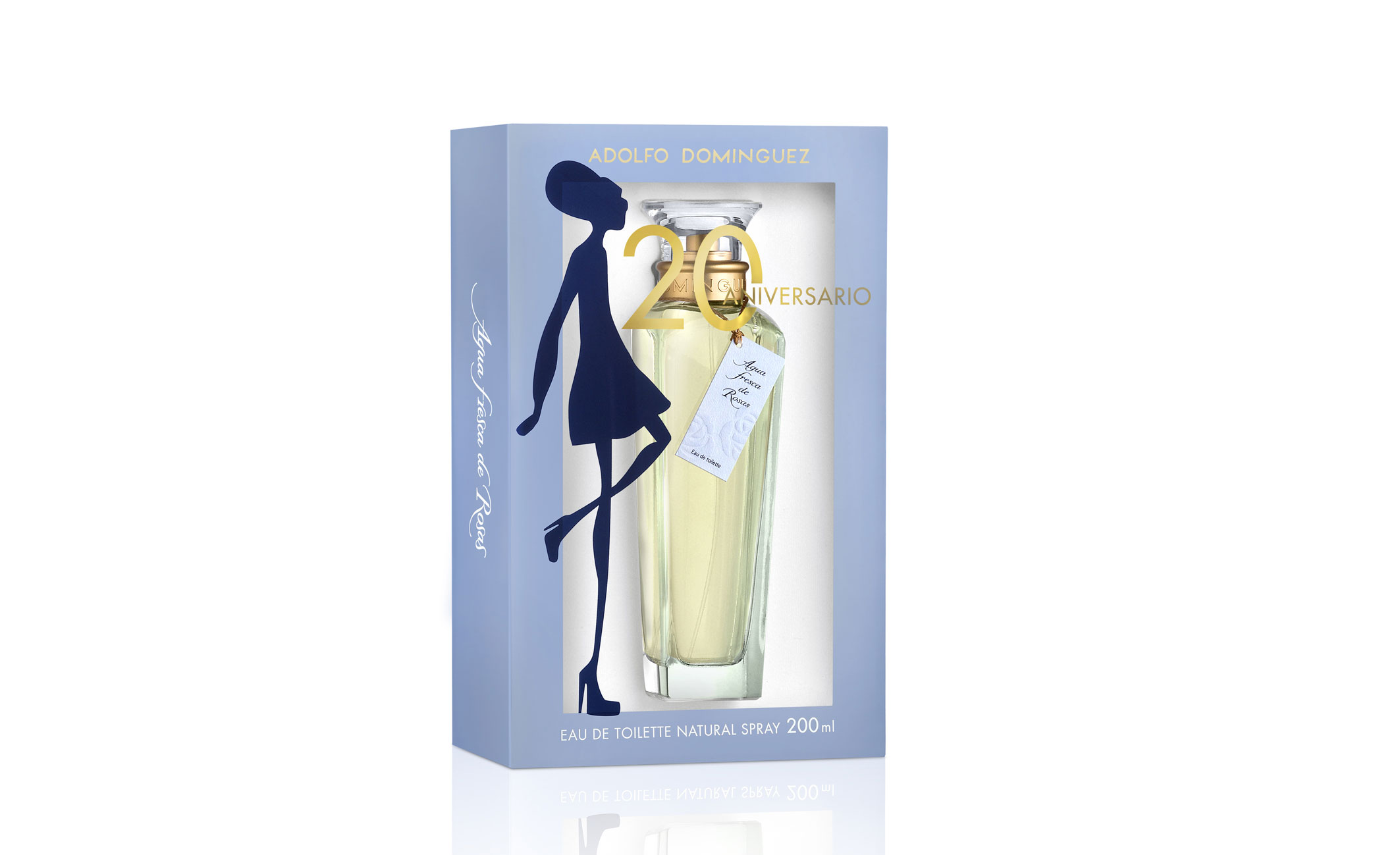 Agua Fresca de Rosas, de Adolfo Dominguez, celebra su 20 aniversario con esta edición de 200 ml.
