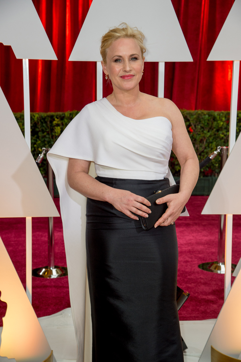 Patricia Arquette en los Óscars 2015.