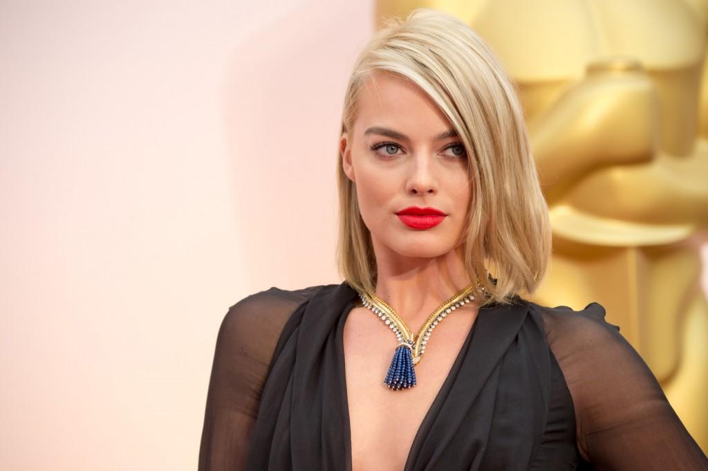 Margot Robbie en los Óscars 2015.