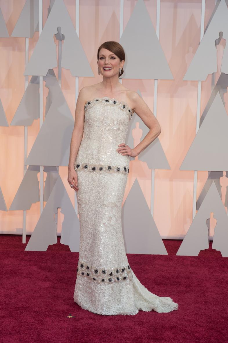 Julianne Moore en los Óscar 2015.