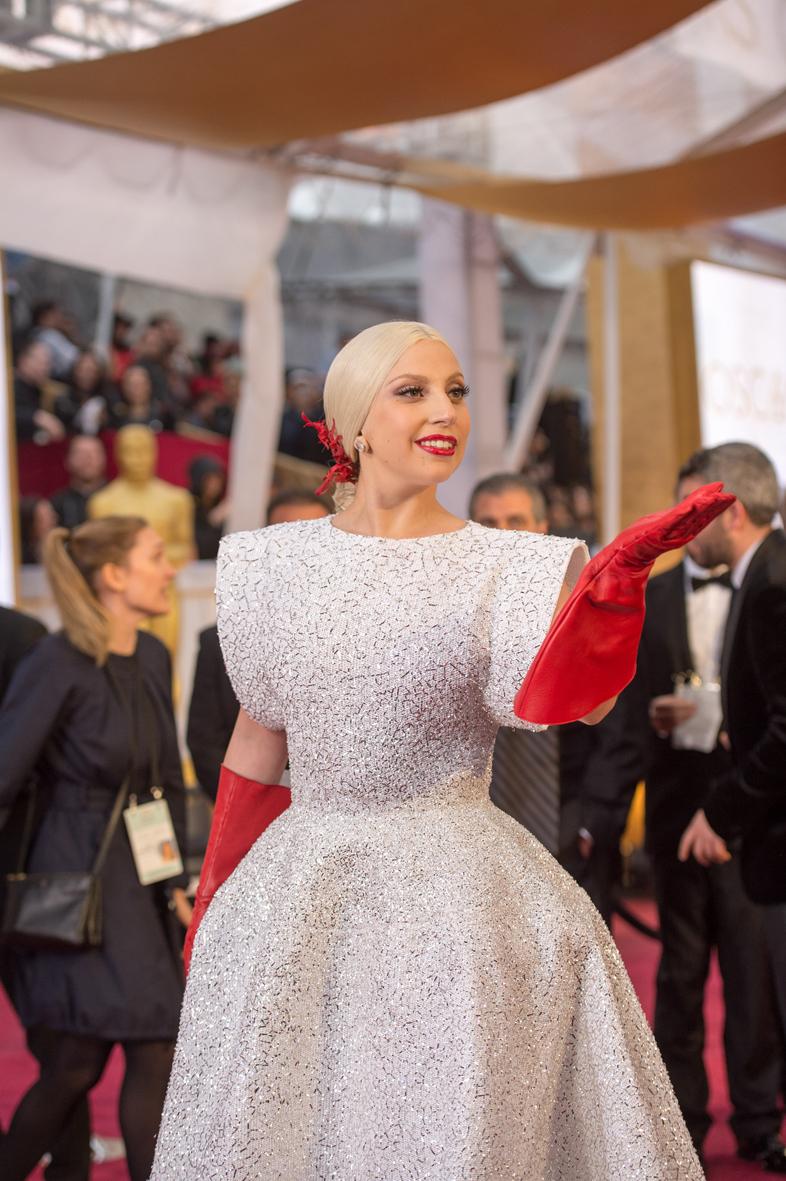 Lady Gaga en los Óscar 2015.