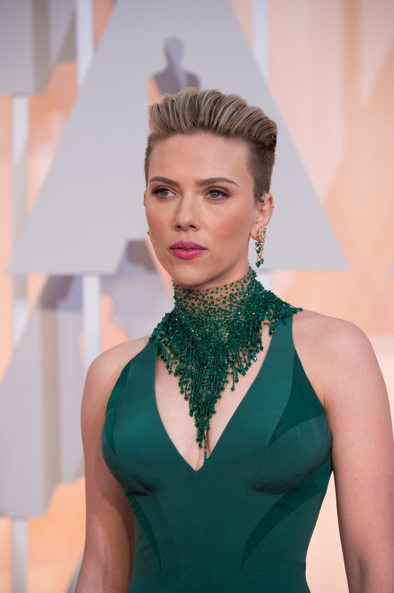 Scarlett Johansson en los Óscar 2015.