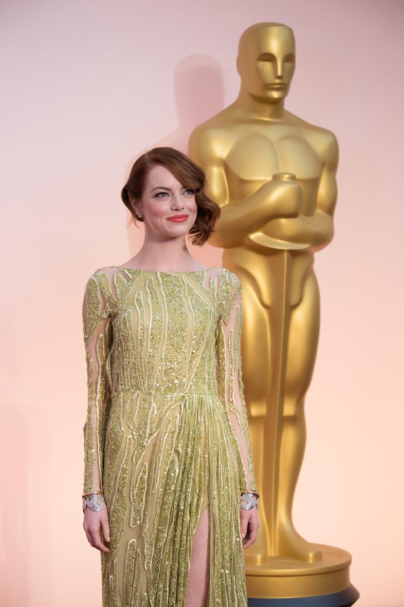 Emma Stone en los Óscar 2015.