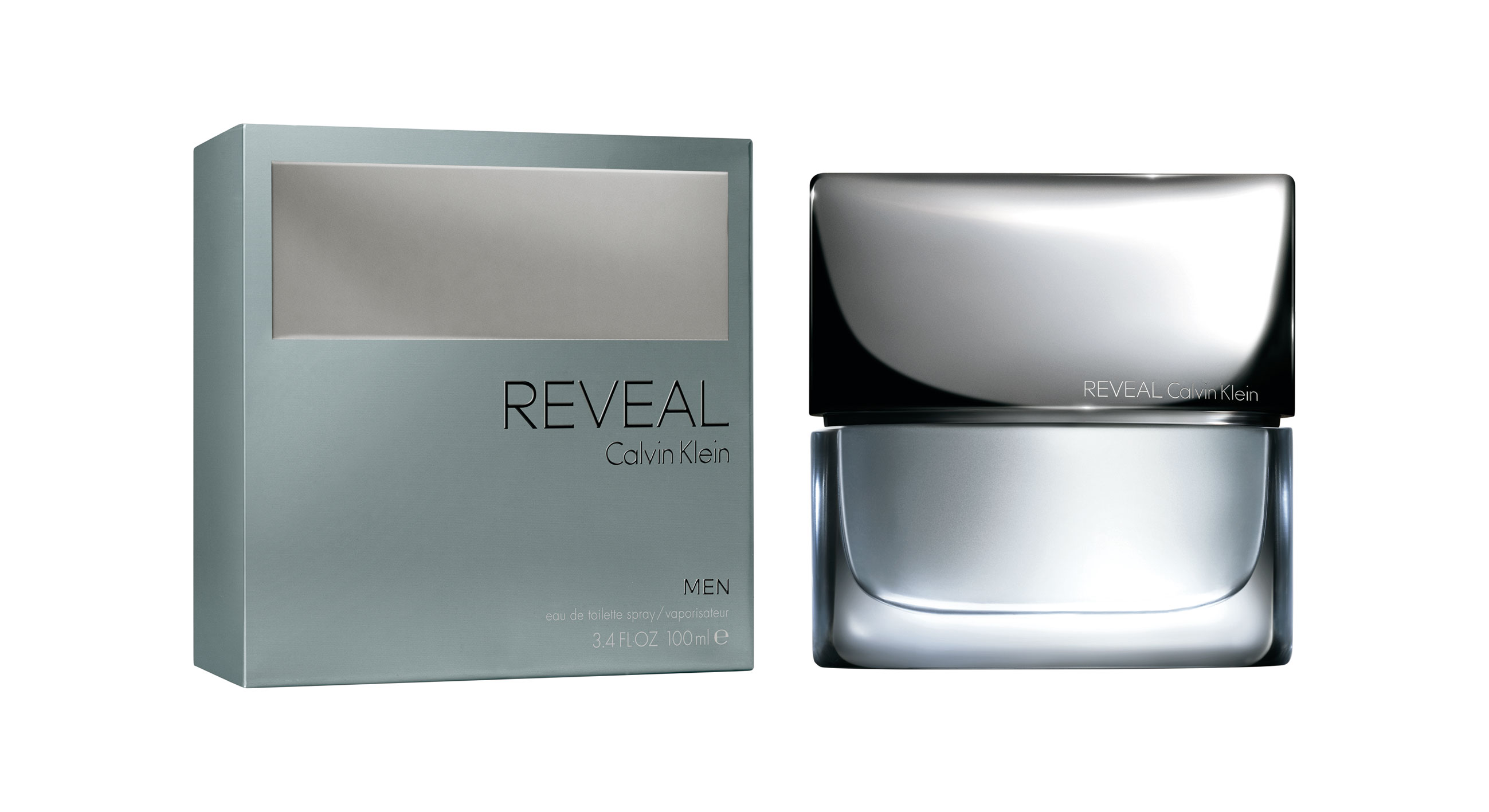 Calvin Klein, Reveal Men (EDT 100 ml, PVPR 74,50 €).
