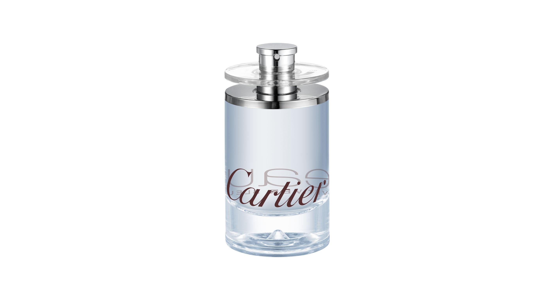 Eau de Cartier Vétiver Bleu (Eau de toilette 100 ml, PVPR 76,50 €).