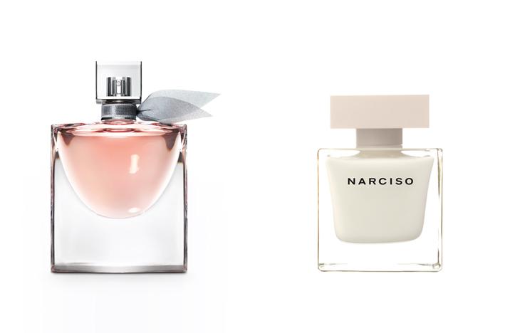 La Vie est Belle, de Lancôme, y Narciso, de Narciso Rodriguez.