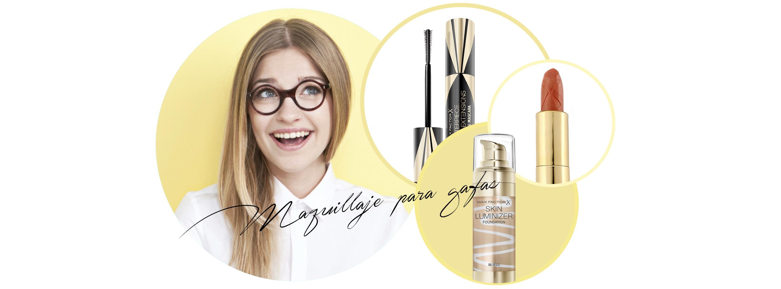 Max Factor trucos maquillaje gafas