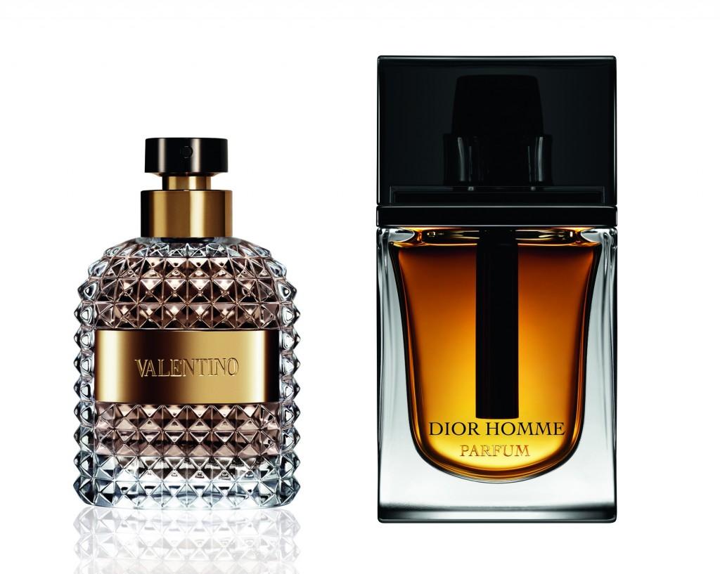 Valentino y Dior Homme Parfum.