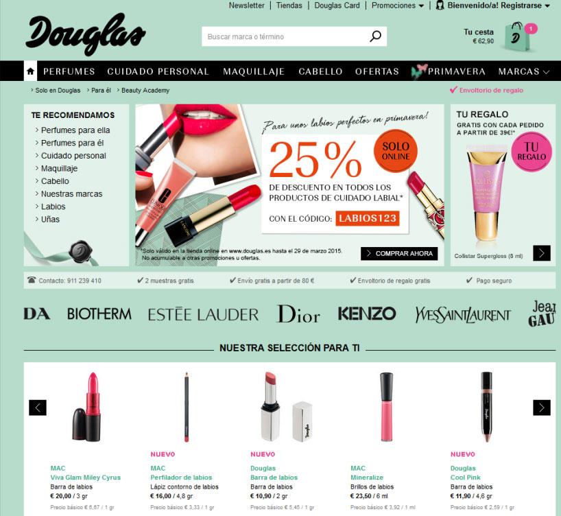 Douglas tienda online.