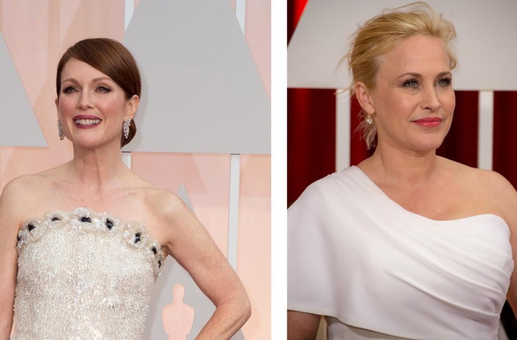 Julianne Moore y Patricia Arquette en los Óscar 2015.