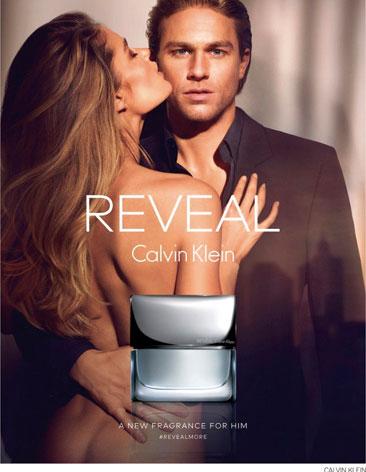 Visual publicitario de Reveal Men, de Calvin Klein.