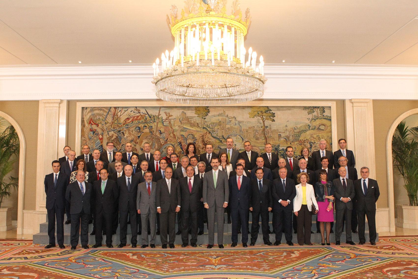 Stanpa, miembro del comité ejecutivo de la CEOE, recibida por S.M. El Rey.