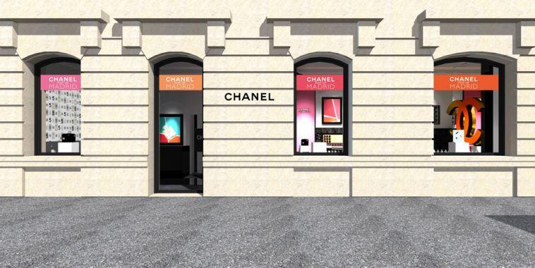 Fachada Dibujo tienda pop up Chanel