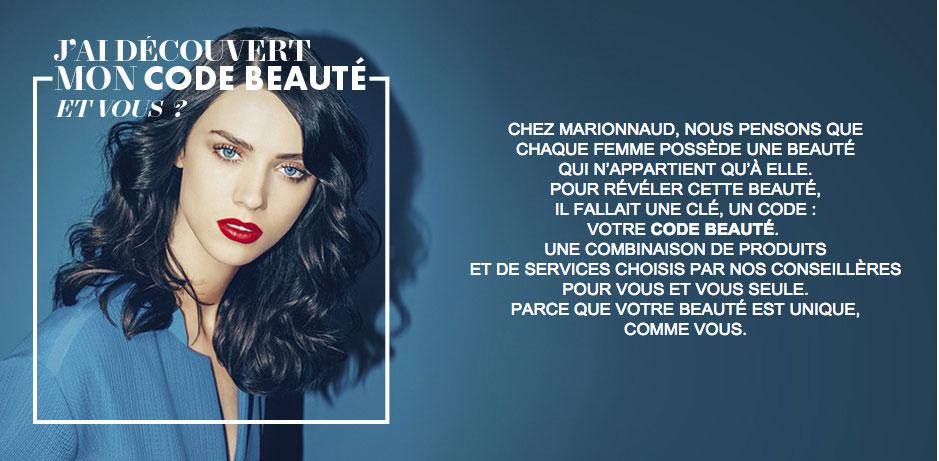 Marionnaud Code Beauté.