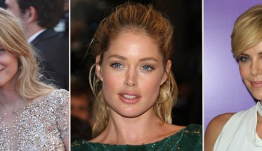 Looks naturales: Mélanie Laurent, Doutzen KroesMélanie Laurent y Charlize Theron