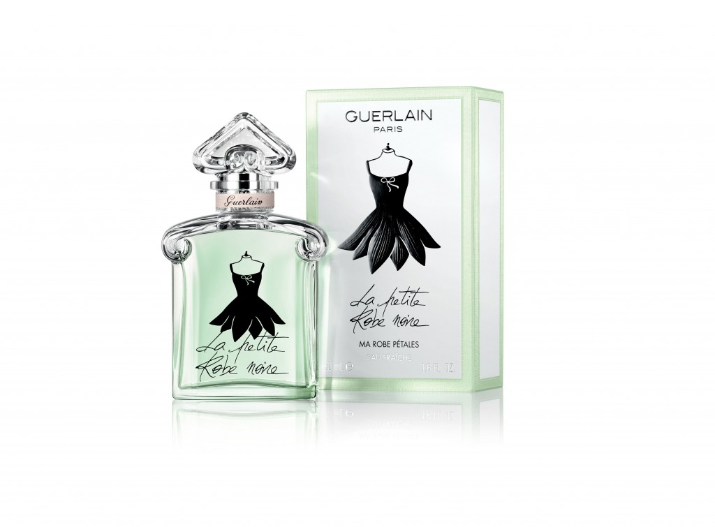 Guerlain La Petite Robe Noire Eau Fraiche. Frasco y packaging.