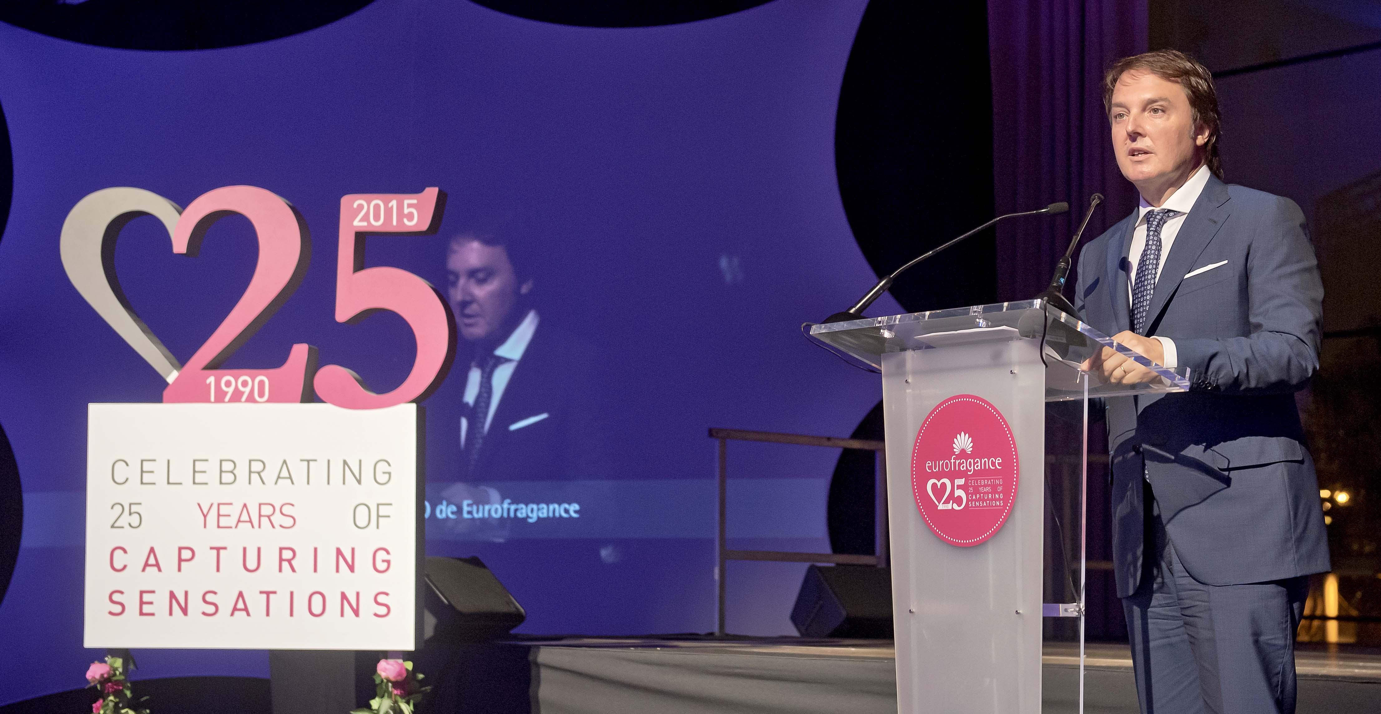 Santiago Sabatés, en el 25º aniversario de Eurofragance.