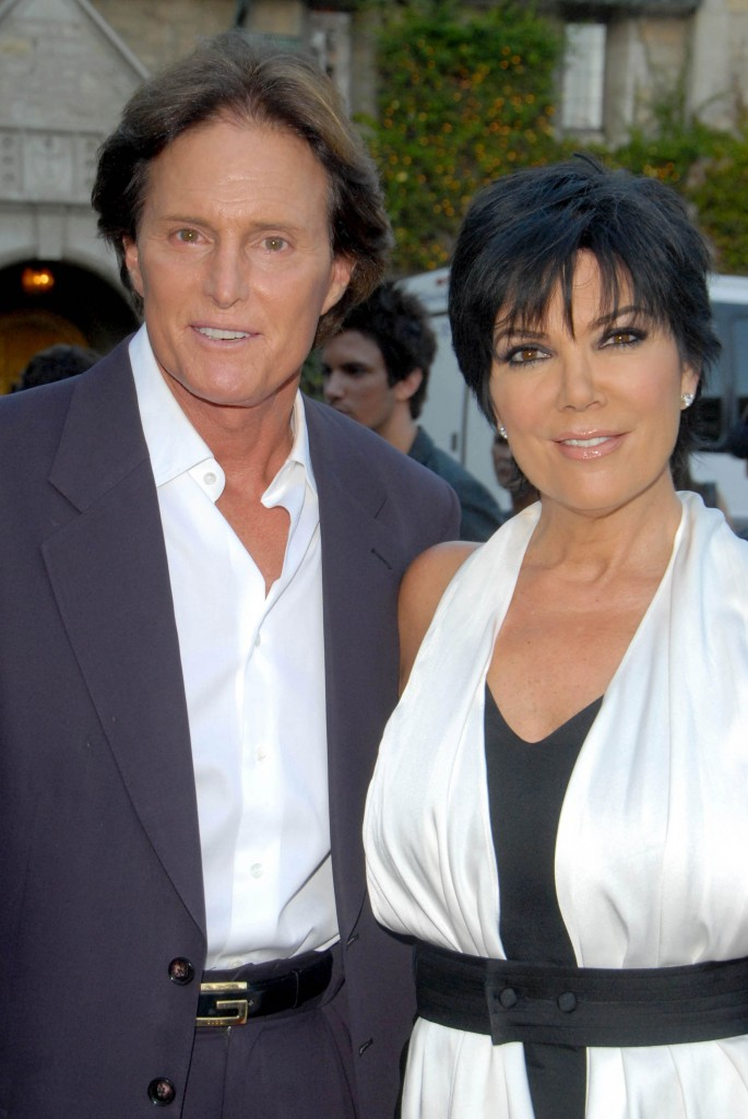 Bruce Jenner con su exmujer Kriss Jenner.