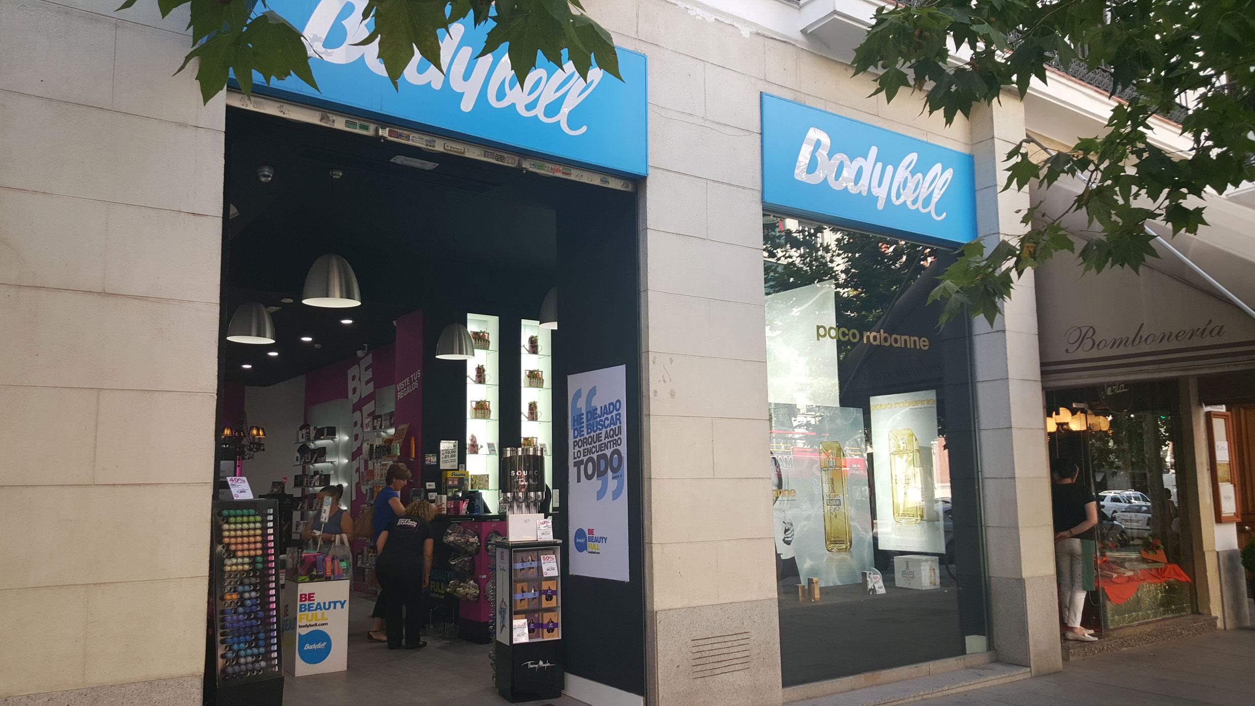 Bodybell. Tienda en la calle Serrano, Madrid.
