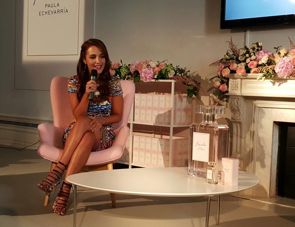 Paula Echevarría presentando su primer perfume.