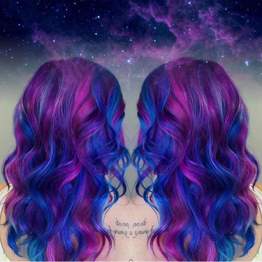 @HOTONBEAUTY galaxy hair