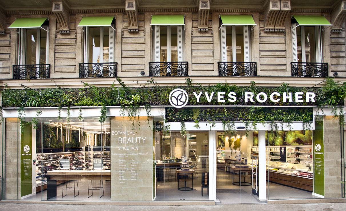 Nueva concept-store de Yves Rocher en Boulevard Haussmann.