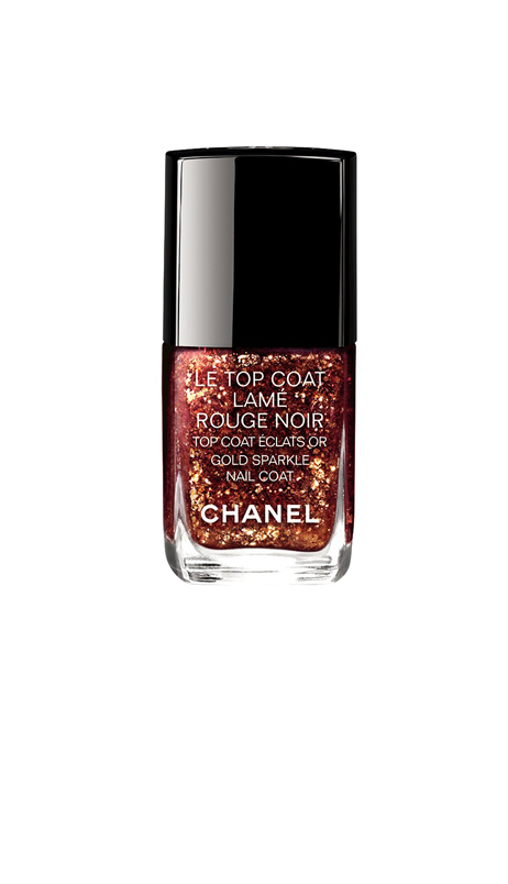 Le Top Coat Lamé Rouge Noir, de Chanel. PVPR 26,50