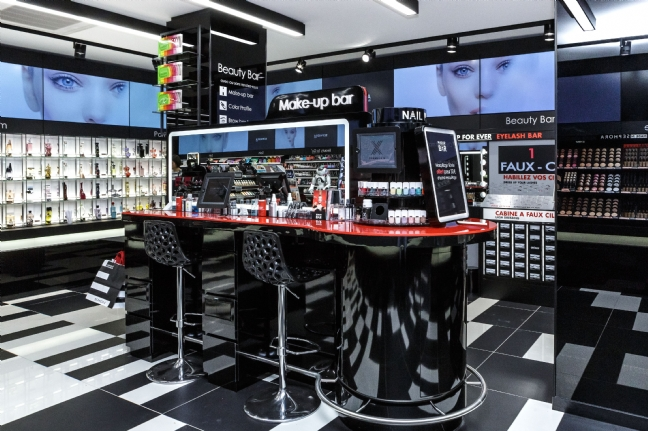 Los beauty bar en Sephora Flash.