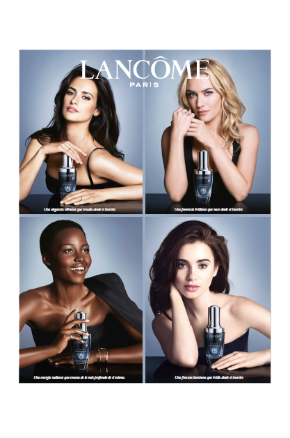 Embajadoras Lancôme en el visual publicitario de Advanced Génifique