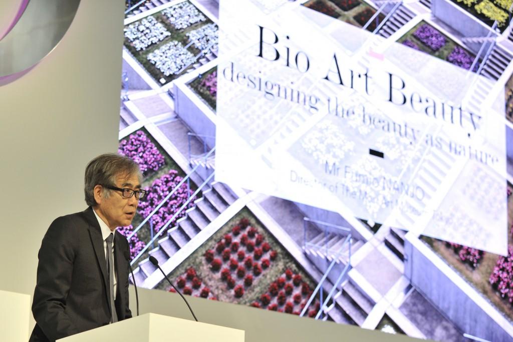 Fumio Nanjo, director del Mori Art Museum en el Simposio de Dior.