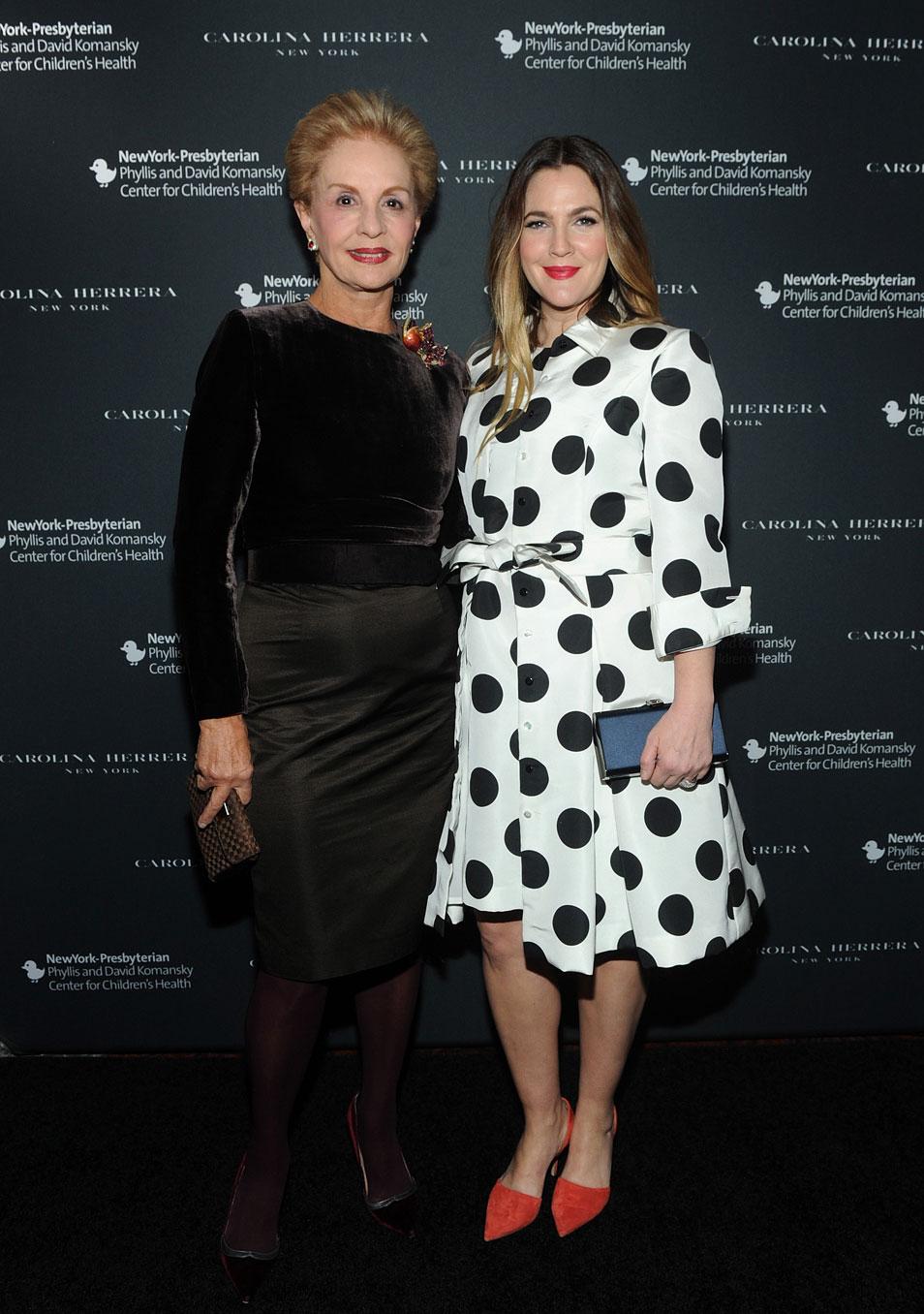 Carolina Herrera y Drew Barrymore.