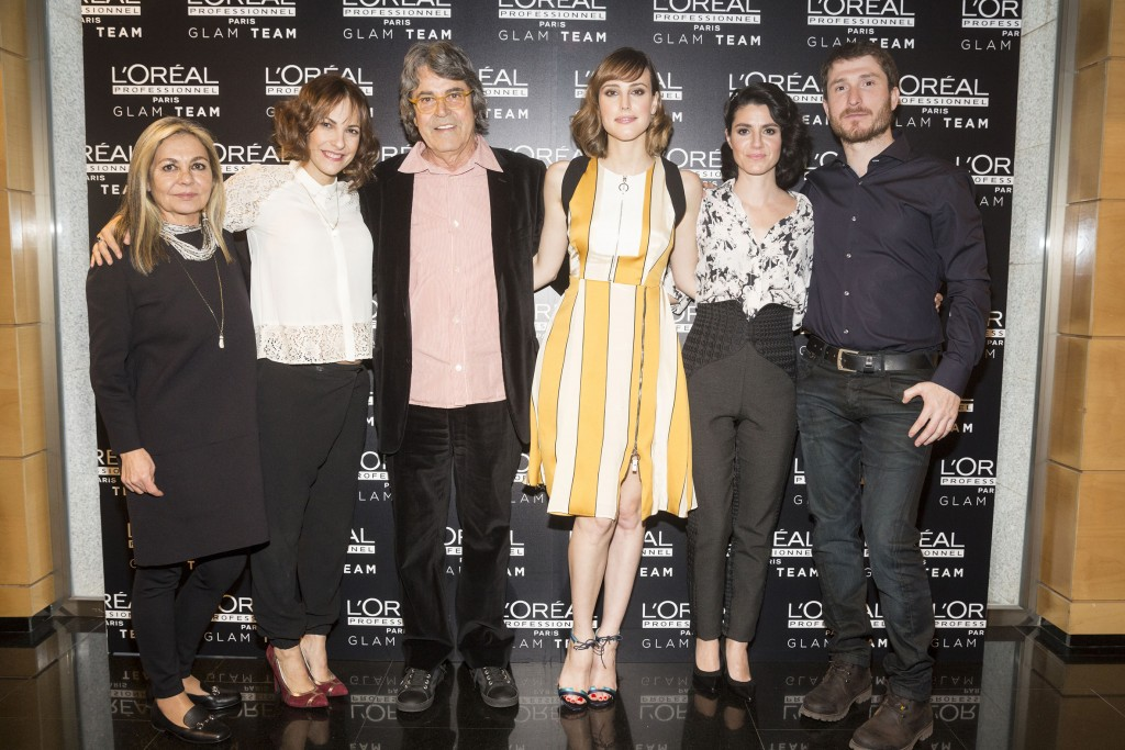 Natalia de Molina, Paula Ortiz e Iraia Elías con el Glam Team de L'Oréal Professionnel