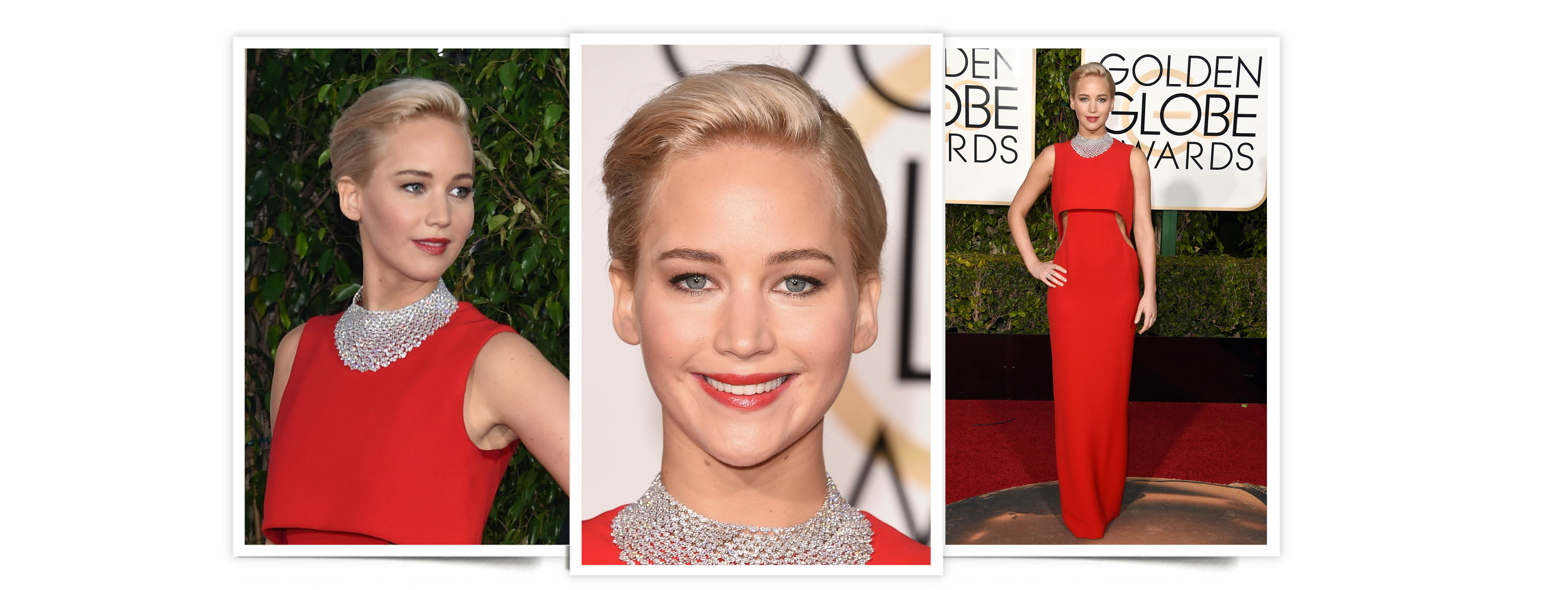 GLOBOS DE ORO. Jennifer Lawrence de Dior.