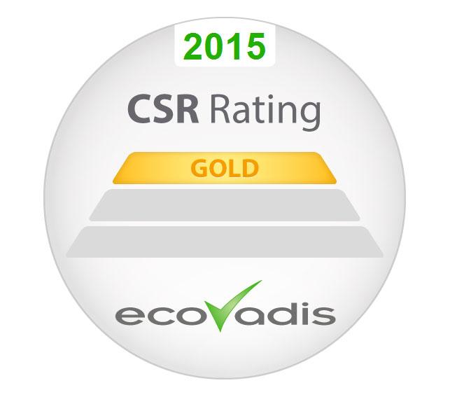 Logo Henkel Ecovadis Gold Rating.