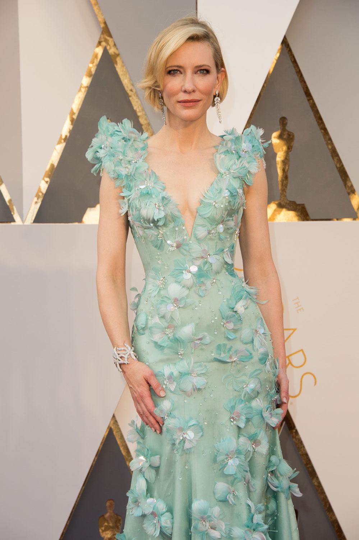 Cate Blanchett, Oscar 2016. Plano americano.