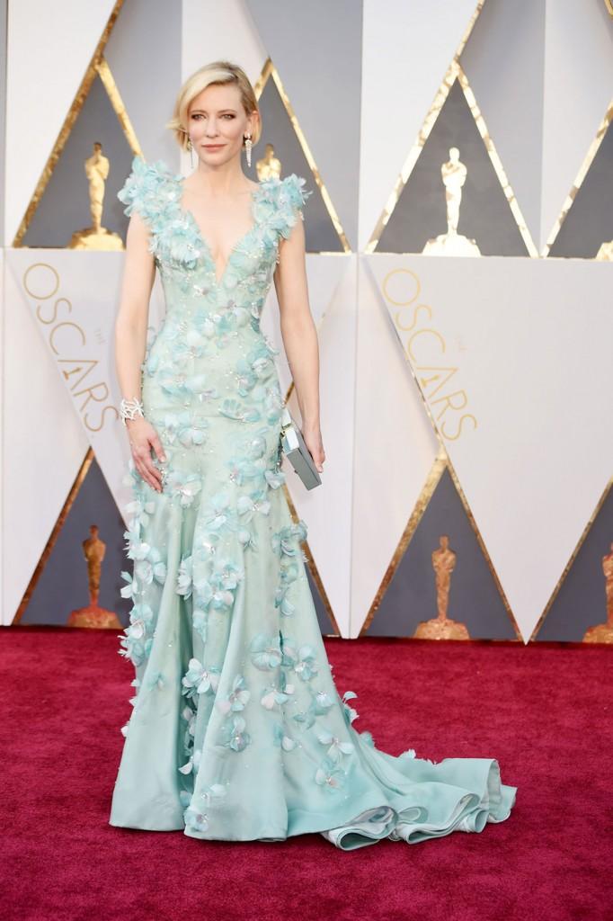 Cate Blanchett en los Oscar 2016, por Jeff Kravitz.