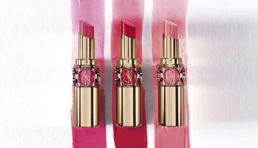 Texturas de Rouge Volupté Shine Oil-in-Stick, de YSL.