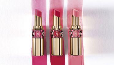 Texturas de Rouge Volupté Shine Oil-in-Stick, de YSL.
