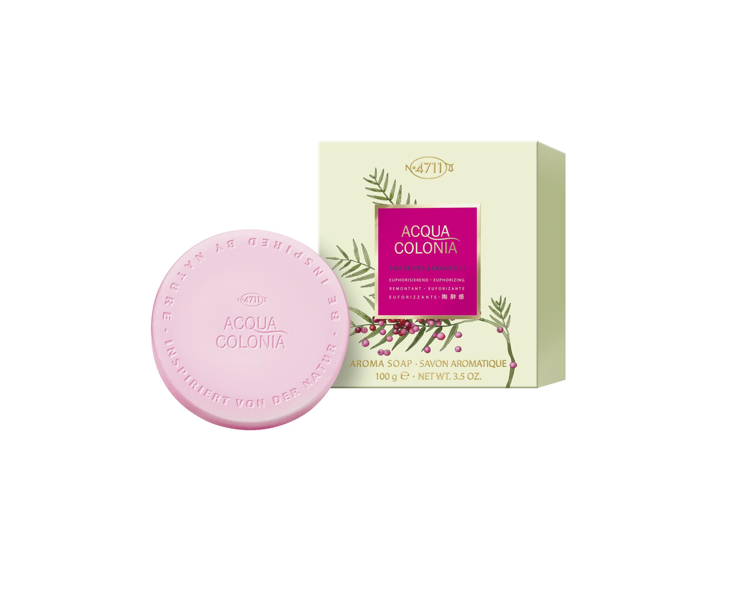 Jabón de pimienta rosa, de 4711