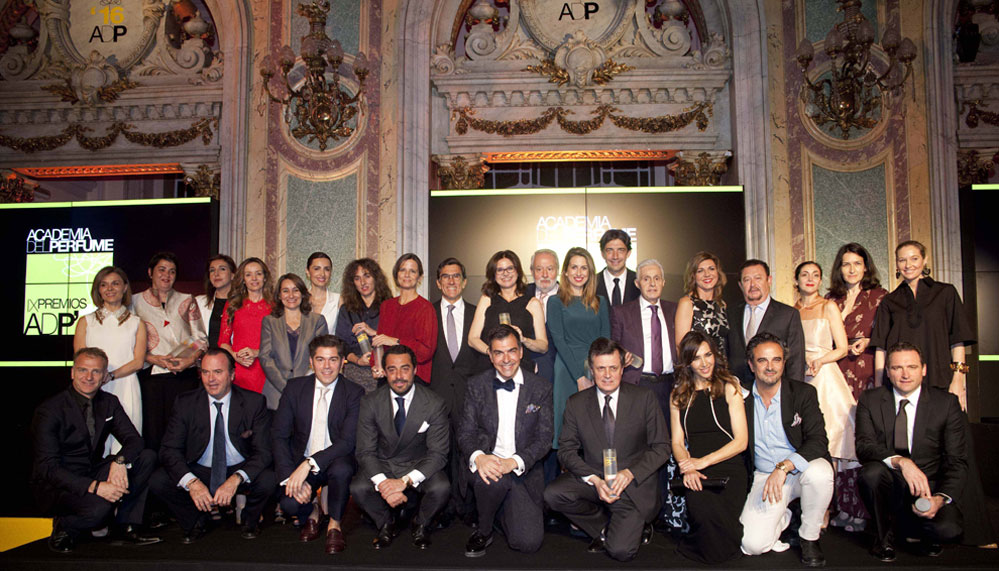 Premiados de la IX Gala de Premios Academia del Perfume.