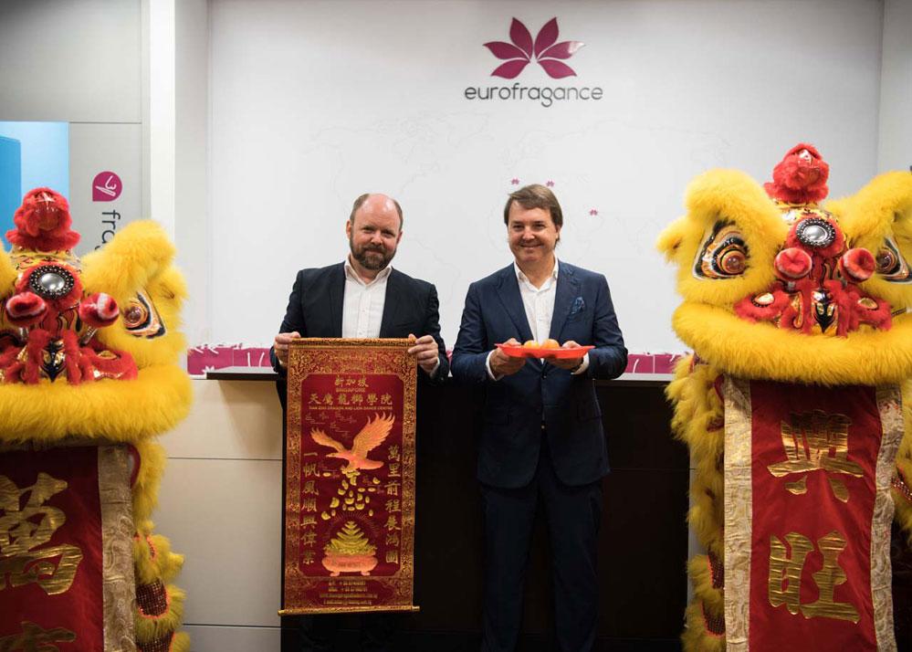 De dcha a izqd: Santiago Sabatés, CEO y fundador de Eurofragance y Markus Steger, Director General de Eurofragance Asia Pacífico.